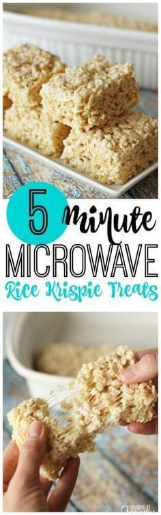 5-Minute Microwave Rice Krispie Treats