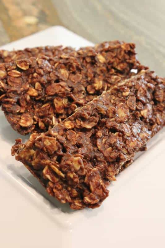Microwave Chocolate Peanut Butter & Oat Snack Bars Recipe Microwave Movie Snack Recipes