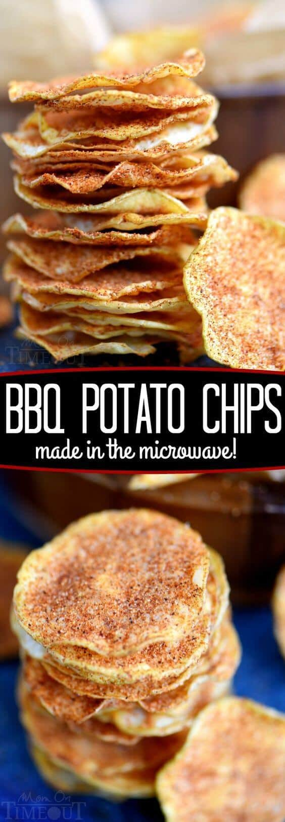Microwave BBQ Potato Chips Recipe