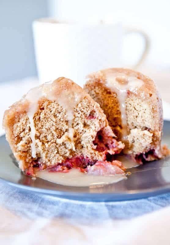Microwave Strawberry Vanilla Mug Cake Recipe