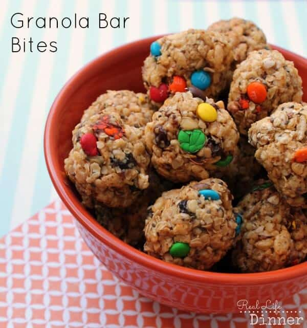 Granola Bar Bites Recipe