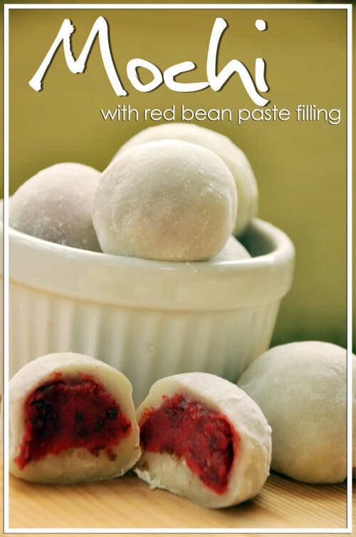 Mochi with Red Bean Filling Recipe