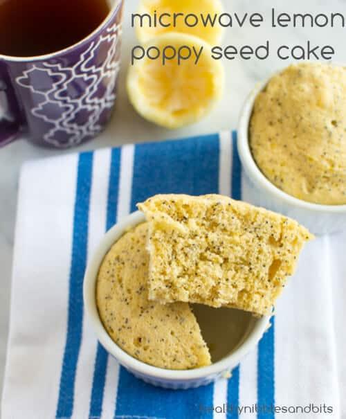 Microwave Lemon Poppy Seed Cake Recipe