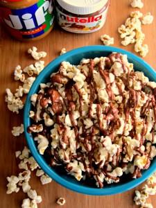 Peanut Butter and Nutella Popcorn Recipe