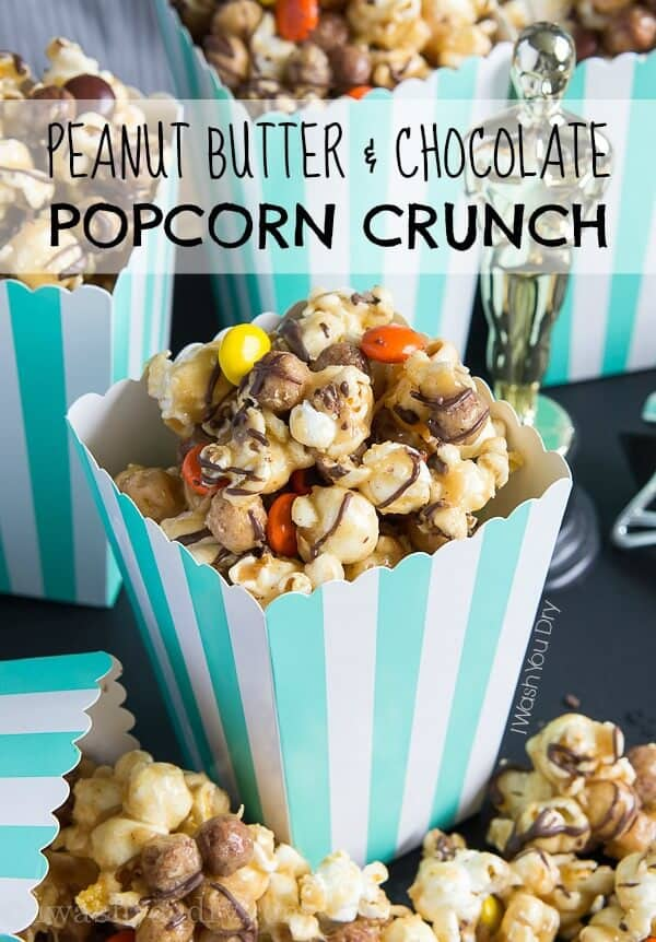 Peanut Butter and Chocolate Popcorn Crunch Mix Recipe