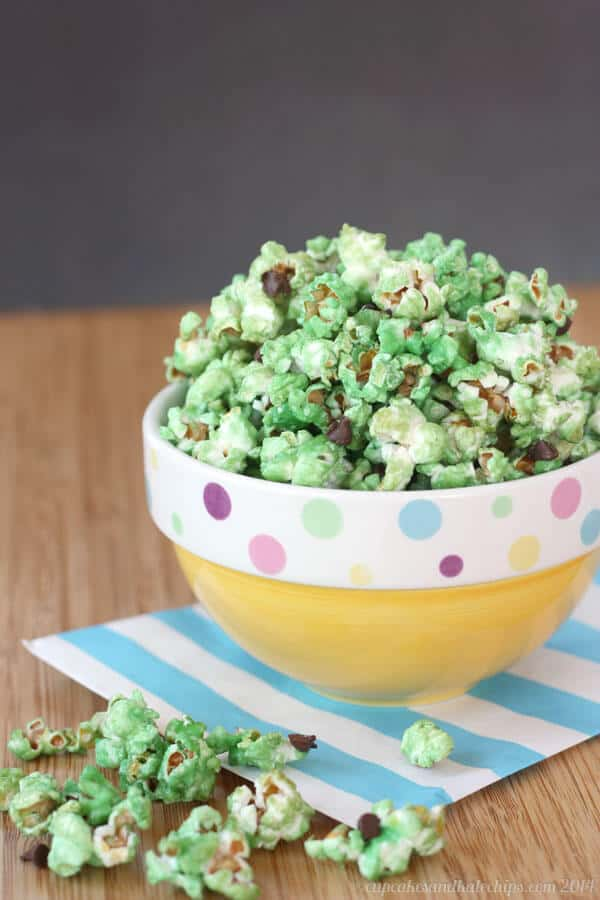 Mint Chocolate Chip Glazed Popcorn Recipe