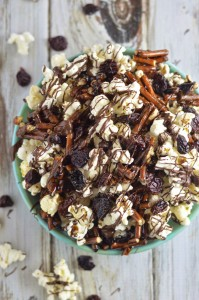 Sweet and Salty Double Chocolate Cherry Snack Mix Recipe