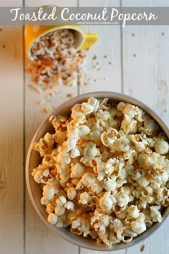 Toasted Coconut Popcorn Recipe