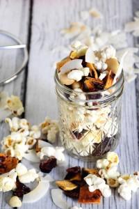 Peach Colada Popcorn Snack Mix Recipe