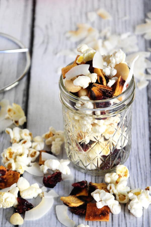Peach Colada Popcorn Snack Mix Recipe