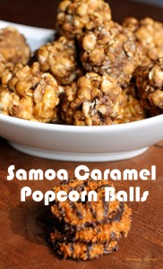 Samoa Caramel Popcorn Balls