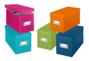 Whitmor 6754-373-5 Plastic CD Boxes Set of 5 Assorted Colors