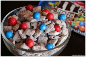 Muddy Buddies with Pretzel M&M's Recipe