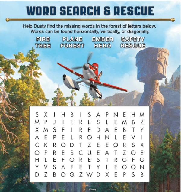 Planes 2 Word Search