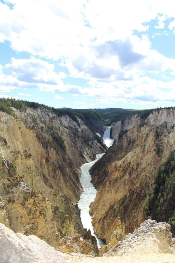 Artist's Point view of the Yellowstone Lower Falls
