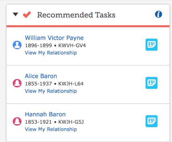 Recommended Tasks
