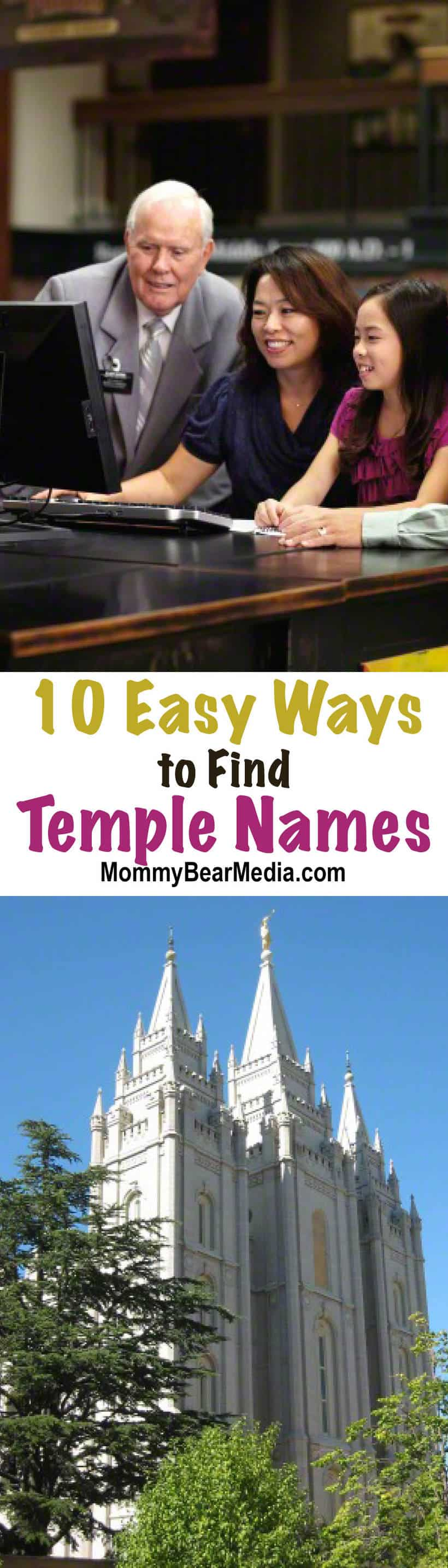 This article on 10 easy ways to find temple names lists easy things you can do to get started with family history and find names a lot easier than you may think!